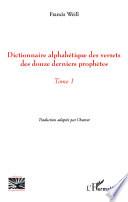 Dictionnaire alphab  tique des versets des douze derniers proph  tes