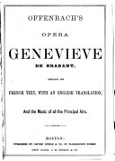 Offenbach's opera Geneviève de Brabant