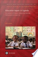 Education Inputs in Uganda