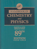 Crc Handbook Of Chemistry And Physics 89th Edition
