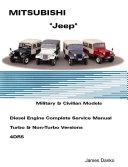 Mistubishi Jeep Diesel English Service Manual 4DR5