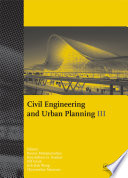 Civil Engineering and Urban Planning III