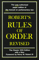 Robert s Rules of Order