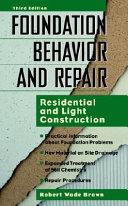 Foundation Behavior And Repair