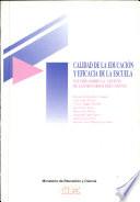 Calidad de la educación y eficacia de la escuela
