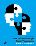 How To Think Straight About Psychology Books A La Carte