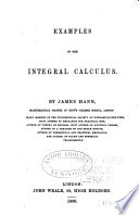 Examples on the integral calculus