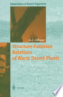 Structure Function Relations of Warm Desert Plants