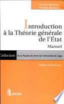 illustration Introduction à la Théorie générale de l'État. Manuel