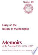 Essays In The History Of Mathematics
