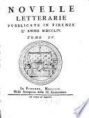 Novelle letterarie pubblicate in Firenze