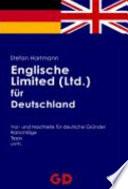 Englische Limited (Ltd.) für Deutschland