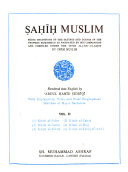 a   i    Muslim  Being Traditions of the Sayings and Doings of the Prophet Muhammad as Narrated by His Companions and Compiled Under the Title Al J  mi   u       a