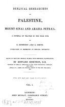download ebook biblical researches in palestine, mount sinai and arabia petraea pdf epub