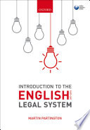 Introduction to the English Legal System 2017 2018