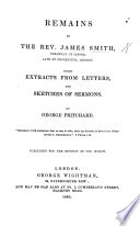 download ebook remains of ... james smith ..., being extracts from letters and sketches of sermons. by g. pritchard, etc pdf epub