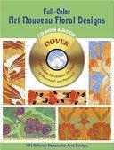 Full-Color Art Nouveau Floral Designs
