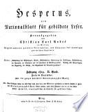 Hesperus oder Belehrung und Unterhaltung für die Bewohner des österreichischen Staats von Christian Carl Andre