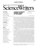 The Newsletter of the National Association of Science Writers
