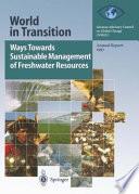 Ways Towards Sustainable Management Of Freshwater Resources