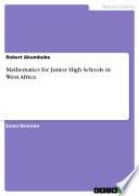 Mathematics For Junior High Schools In West Africa