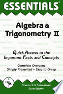 The Essentials of Algebra   Trigonometry