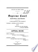 State of New York in Supreme Court Appellate Division Fourth Department Book PDF