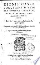 Historia romana libri XLVI