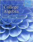 College Algebra  Books a la Carte Edition
