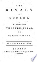 The Rivals     The Fourth Edition   By Richard Brinsley Sheridan   Book PDF