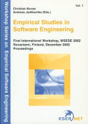 Empirical Studies in Software Engineering