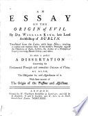 An Essay on the Origin of Evil