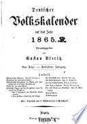 Deutscher Volkskalender auf das Jahr ... ; Hrsg. von Gustav Nieritz