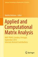 Applied and Computational Matrix Analysis