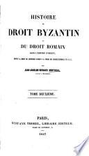 Histoire du droit byzantin