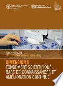 illustration Outil d'évaluation des systèmes de contrôle des aliments: Dimension D – Fondement scientifique, base de connaissances et amélioration continue