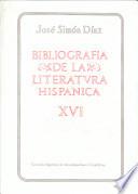 Bibliografía de la literatura hispánica