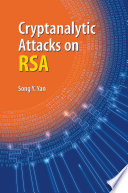 Ebook Cryptanalytic Attacks on RSA Epub Song Y. Yan Apps Read Mobile
