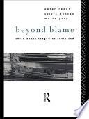 Ebook Beyond Blame Epub Dr Peter Reder,Sylvia Duncan,Moira Gray Apps Read Mobile