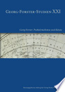 Georg-Forster-Studien XXI