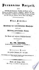 Preussens Vorzeit, oder historische Unterhaltungen, Gemälde und Sagen aus der Vorzeit von Städten, Burgen, Schlössern, Klöstern und Dörfern