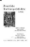 Deutsche Kulturgeschichte Im Abriss