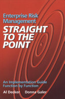 Enterprise Risk Management   Straight to the Point