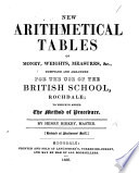 New Arithmetical Tables of Money, Weights, Measures, etc