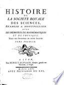 Histoire de la Soci  t   Royale des Sciences etablie a Montpellier