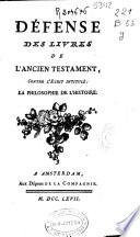 D  fense des livres de l Ancien Testament