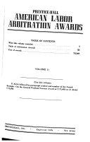 American labor arbitration awards