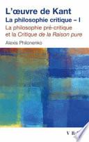 L oeuvre de Kant