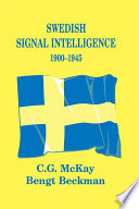 Swedish Signal Intelligence 1900 1945