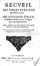 Recueil de diverses pi  ces publi  es pour la traduction du N  T  impr     Mons